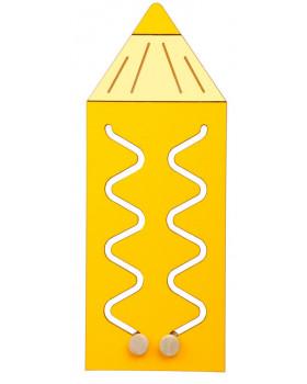 Nástěnný labyrint Barvička - žlutá