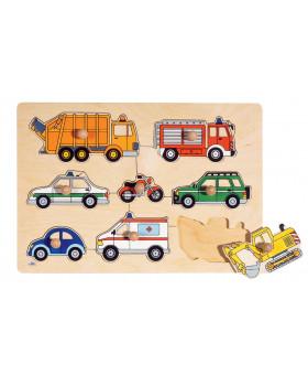 Vkládací skládačka Dopravní prostředky