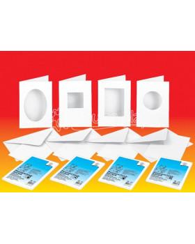 Vykrojené gratulační kartičky 190 g/m2 s obálkami - čtverec