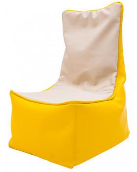 Fotel relaksacyjny dla dzieci - żółto-waniliowy