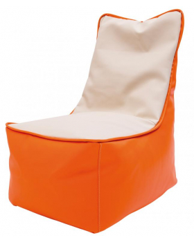 Fotel relaksacyjny dla dzieci -pomarańcz-waniliowy