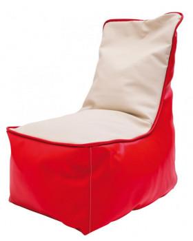 Fotel relaksacyjny dla dzieci - czerwono-waniliowy