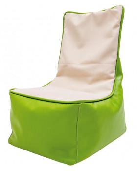 Fotel relaksacyjny dla dzieci - zielono-waniliowy