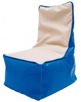 Fotel relaksacyjny dla dzieci -niebiesko-waniliowy