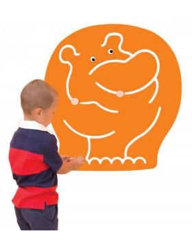 Labirynt dekoracyjny - Hipopotam