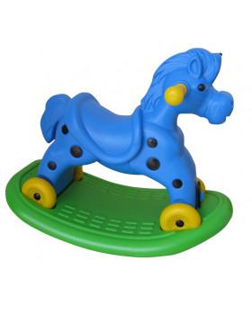 Koń bujak jeździk - niebieski