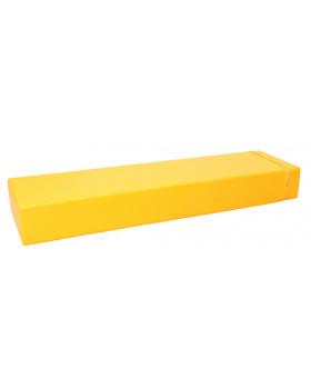 Prostokąt płaski mały - żółty