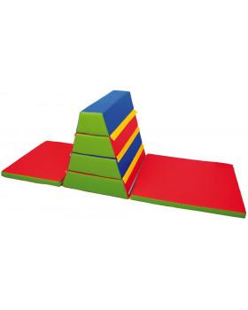 Piankowa skrzynia gimnastyczna z materacami