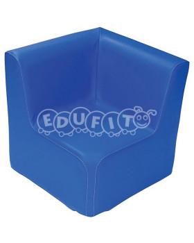 Fotel narożny - niebieski