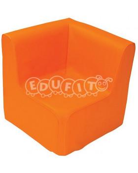 Fotel narożny - pomarańczowy