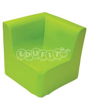 Fotel narożny - zielony