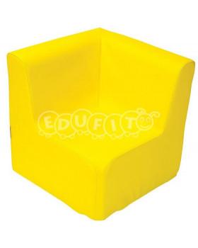 Fotel narożny - żółty