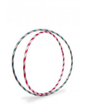 Koło gimnastyczne Hula Hop, zestaw 2 szt. - błyszczące