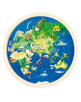 Puzzle kruhové - Zemeguľa
