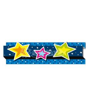 Dekoračné pásy 3D - Hviezdičky