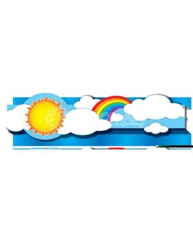 Dekoračné pásy 3D - Slnko a dúha