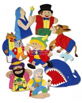 Maňušky z filcu-Pinocchio