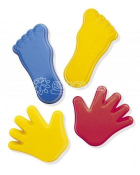 Formičky v tvare rúk a nôh 4ks