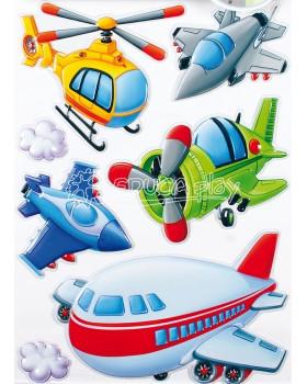 Nástenné nálepky - Plastové lietadlá