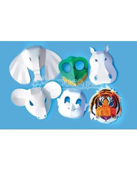 Papierové masky - divé zvieratá