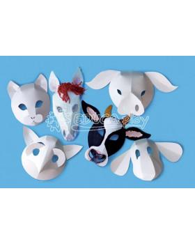 Papierové masky - zvieratá z farmy