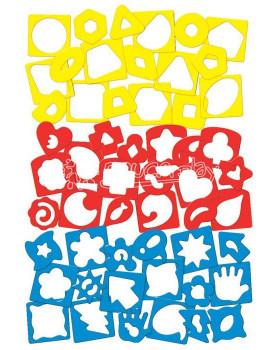 Šablóny na precvičovanie tvarov