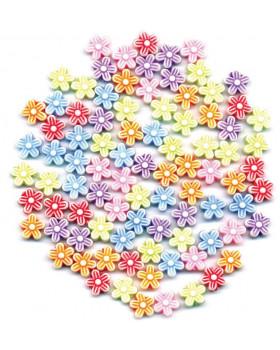 Plastové koráliky - kvietky