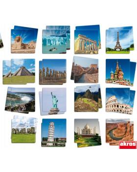 Maxi pexeso vo fotkách - Svetové miesta