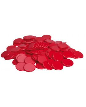 Plastové žetóny - červené