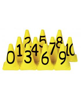 Kužele s číslami