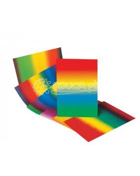 Fotokartón v dúhových farbách