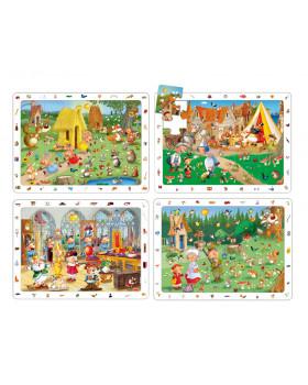 Sada objavných puzzle - Rozprávky (15 dielikov)