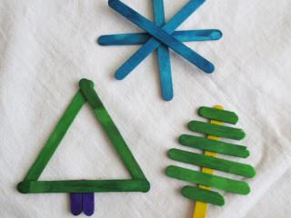 Gombíková hviezdička a stromček z nanukových paličiek
