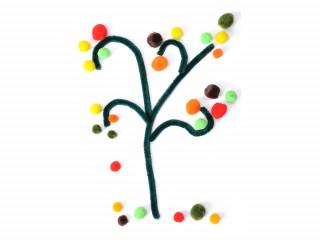 Bombuľkový jesenný strom