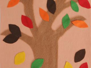 Jesenný strom z filcu