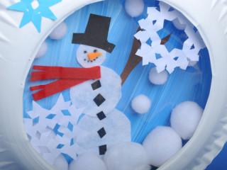 Snehuliak v snežnej guli