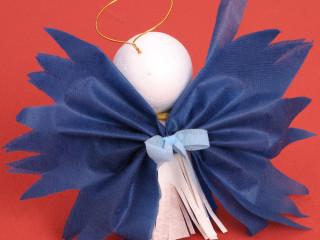 Kelímkový modrý anjel