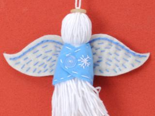 Vlnený modrý anjel