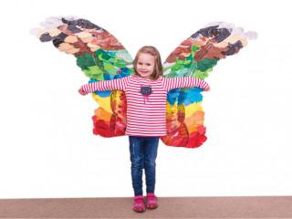 Barevná andělská krídla