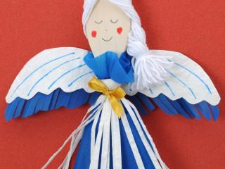 Vařečkový modrý anděl