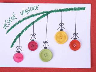 Knoflíkový vánoční pozdrav