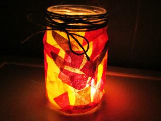 Svícen v podzimních barvách