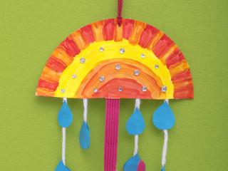 Barevný deštník