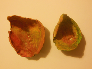 Misky z listov