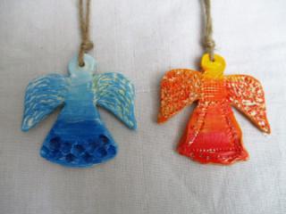 Drobnosti z hliny - anjeli