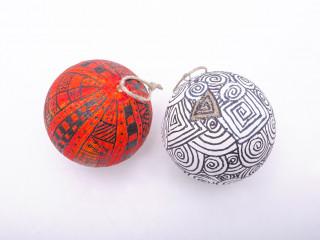Zentangle vianočné gule
