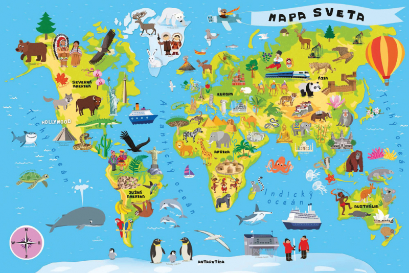 mapa sveta na srpskom Puzzle   Mapa sveta  Česká verzia | Nomiland.sk   obchod pre deti  mapa sveta na srpskom